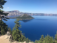 Courtesy photo<br /> Schaefer visited Crater Lake in Oregon on the Pacific Crest Trail.