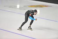 SCHAATSEN: CALGARY: Olympic Oval, 08-11-2013, Essent ISU World Cup, 1500m, Jonathan Kuck (USA), ©foto Martin de Jong
