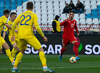 17th November 2019; Stadion Rajko Mitic, Belgrade, Serbia; European Championships 2020 Qualifier, Serbia versus Ukraine; Adem Ljajic of Serbia comes forward on the ball - Editorial Use
