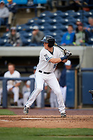 West Michigan Whitecaps designated hitter Cole Bauml (16) at bat during a game against the Clinton LumberKings on May 3, 2017 at Fifth Third Ballpark in Comstock Park, Michigan.  West Michigan defeated Clinton 3-2.  (Mike Janes/Four Seam Images)