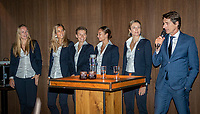 The Hague, The Netherlands, Februari 5, 2020,    Penthouse, FedCup  Netherlands -  Balarus, Official Dinner,  Dutch team<br /> Photo: Tennisimages/Henk Koster