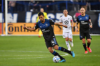 SAN JOSE, CA - MARCH 7: Oswaldo Alanis #4 of the San Jose Earthquakes during a game between Minnesota United FC and San Jose Earthquakes at Earthquakes Stadium on March 7, 2020 in San Jose, California.