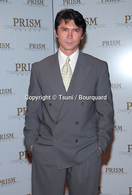"""Lou Diamond Phillips arriving at the """" 6th  Prism Awards """" ,  ( For the depictions of drug, alcohol and tobacco use and addiction in Film, TV and Music Entertainment ). The Awards show was on the CBS Television City in Los Angeles. May 9, 2002.           -            PhillipsLouDiamond01.jpg"""