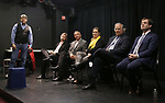 Bob Ost, David Carpenter, Michael Alden, Themis Gomes, Stewart F. Lane and Hal Berman attends the Theater Resources Unlimited (TRU): Stream It and They Will Come: How Digital Capture Builds Audience Awareness at The Playroom Theatre on April 26, 2018 in New york City.