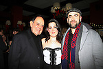 "The Luckinbills - Laurence - Katherine (in play as ""Lucy"") - Benjamin (son of Robin Strasser) as they attend the opening night of Dracula on January 5, 2011 at the Little Shubert Theatre, New York City, New York and after party at Sardis. (Photo by Sue Coflin/Max Photos)"