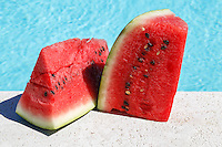Series of photos of watermelon.<br />