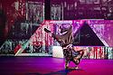 Boy Blue Entertainment perform THE FIVE AND THE PROPHECY OF PRANA at the Barbican theatre. Dancers are: Michele 'Paleta' Rhyner, Bradley 'Bradz' Charles, Theo 'Godson' Oloyade, Kofi 'Klik' Mingo, Xena Gusthart, Vicky 'Skytilz' Mantey, Duwane Taylor, Kayla Lomas-Kirton, shaun Smith, Hakim Saber and Jumar Aben. Photograph © Jane Hobson.