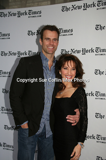 Cameron Mathison & Susan Lucci - All My Children at 40 celebrate on January 10, 2010 at the New York Times Arts & Leisure Weekend at the TimesCenter Stage, New York City, New York. (Photo by Sue Coflin/Max Photos)