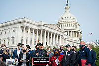 Comedian John Stewart, offers remarks during a press conference regarding legislation to assist veterans exposed to burn pits, outside the US Capitol in Washington, DC., Tuesday, September 15, 2020. <br /> Credit: Rod Lamkey / CNP /MediaPunch