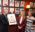 Max Klimavicius, Laura Linney and Cynthia Nixon attends the portrait unveilings of Laura Linney and Cynthia Nixon starring on Broadway in the Manhattan Theatre Club's THE LITTLE FOXES, at Sardi's on June 29, 2017 in New York City.