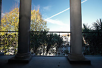 The villa sequestrated to the boss Walter Schiavone. The balcony.