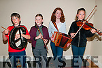 CCE Annual Concert : Pictured at the annual CCE concert held at Ballylongford Community Centre on Friday night last were Dennis Finnucane, Hamish O'Carroll, Emma Lynch & Anna Finnucane.