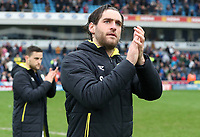 Blackburn Rovers' Danny Graham applauds the crowd at the of todays match<br /> <br /> <br /> Photographer Rachel Holborn/CameraSport<br /> <br /> The EFL Sky Bet League One - Blackburn Rovers v Southend United - Saturday 7th April 2018 - Ewood Park - Blackburn<br /> <br /> World Copyright &copy; 2018 CameraSport. All rights reserved. 43 Linden Ave. Countesthorpe. Leicester. England. LE8 5PG - Tel: +44 (0) 116 277 4147 - admin@camerasport.com - www.camerasport.com