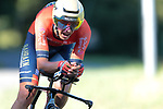 Dylan Teuns (BEL) Bahrain-Merida in action during Stage 10 of La Vuelta 2019 an individual time trial running 36.2km from Jurancon to Pau, France. 3rd September 2019.<br /> Picture: Colin Flockton | Cyclefile<br /> <br /> All photos usage must carry mandatory copyright credit (© Cyclefile | Colin Flockton)