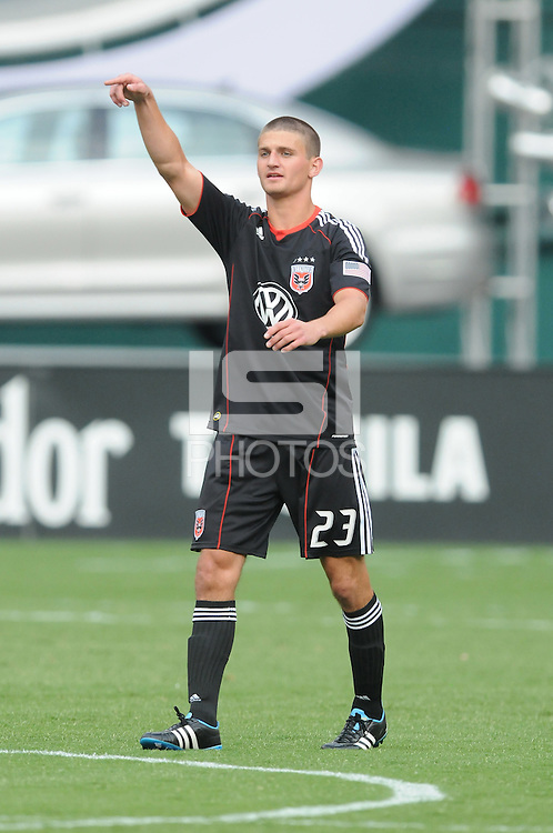 D.C. United defender Perry Kitchen (23) File photo RFK stadium 2011 season.