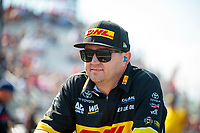Sep 29, 2019; Madison, IL, USA; NHRA top fuel driver Richie Crampton during the Midwest Nationals at World Wide Technology Raceway. Mandatory Credit: Mark J. Rebilas-USA TODAY Sports