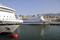 - porto di  Genova, terminal traghetti<br /> <br /> - Genoa port, ferry terminal