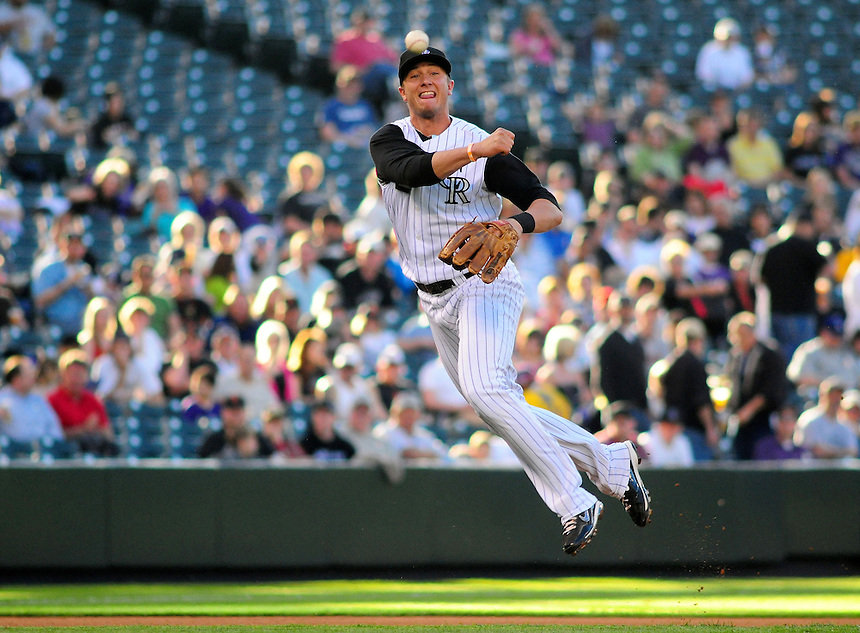 May 6, 2009: Rockies shortstop Troy Tulowitzki during a game between the San Francisco Giants and the Colorado Rockies at Coors Field in Denver, Colorado. The Rockies beat the Giants 11-1.