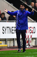 Lincoln City manager Danny Cowley appeals for a decision<br /> <br /> Photographer Chris Vaughan/CameraSport<br /> <br /> The Carabao Cup First Round - Rotherham United v Lincoln City - Tuesday 8th August 2017 - New York Stadium - Rotherham<br />  <br /> World Copyright &copy; 2017 CameraSport. All rights reserved. 43 Linden Ave. Countesthorpe. Leicester. England. LE8 5PG - Tel: +44 (0) 116 277 4147 - admin@camerasport.com - www.camerasport.com