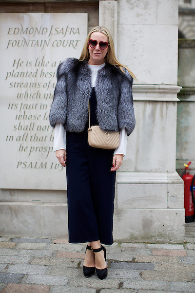 Alice Dawson  London Fashion Week Street Style at Somerset House