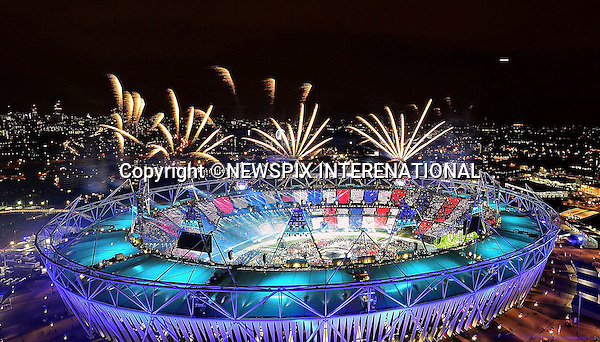 "OLYMPICS OPENING CEREMONY.Olympic Stadium, London_12/08/2012.Mandatory Credit Photo: London2012/NEWSPIX INTERNATIONAL..**ALL FEES PAYABLE TO: ""NEWSPIX INTERNATIONAL""**..IMMEDIATE CONFIRMATION OF USAGE REQUIRED:.Newspix International, 31 Chinnery Hill, Bishop's Stortford, ENGLAND CM23 3PS.Tel:+441279 324672  ; Fax: +441279656877.Mobile:  07775681153.e-mail: info@newspixinternational.co.uk"