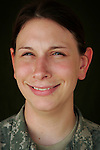 Specialist Deirdre Fante, 25, Detroit, MI, Medic, Charlie Medical Company 501st Field Support Battalion 1st Brigade 1st Armored Division taken at the company's medical facility at Camp Ramadi, Iraq on Sunday Oct. 01, 2006.<br />