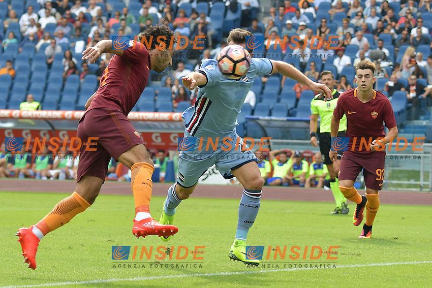 Gol Mohamed Salah Roma Goal Celebration <br /> Roma 11-09-2016 Stadio Olimpico  <br /> Football Calcio Serie A AS Roma - Sampdoria <br /> Foto Andrea Staccioli / Insidefoto