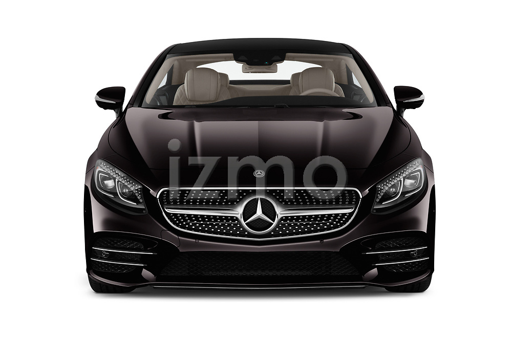 Car photography straight front view of a 2019 Mercedes Benz S-Class S560 2 Door Coupe