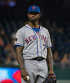 New York Mets shortstop and relief pitcher Jose Reyes (7) pitches in the eighth inning against the Washington Nationals at Nationals Park in Washington, D.C. on Tuesday, July 31, 2018.  The Nationals won the game 25 - 4.<br /> Credit: Ron Sachs / CNP<br /> (RESTRICTION: NO New York or New Jersey Newspapers or newspapers within a 75 mile radius of New York City)