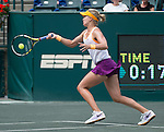 Eugenie Bouchard (CAN) loses to Andrea Petkovic (GER) 1-6, 6-3, 7-5 in the semis  at the Family Circle Cup in Charleston, South Carolina on April 5, 2014.