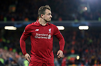 Liverpool's Xherdan Shaqiri<br /> <br /> Photographer Rich Linley/CameraSport<br /> <br /> UEFA Champions League Semi-Final 2nd Leg - Liverpool v Barcelona - Tuesday May 7th 2019 - Anfield - Liverpool<br />  <br /> World Copyright &copy; 2018 CameraSport. All rights reserved. 43 Linden Ave. Countesthorpe. Leicester. England. LE8 5PG - Tel: +44 (0) 116 277 4147 - admin@camerasport.com - www.camerasport.com