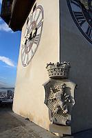 Wappen am Uhrturm auf dem Schlossberg, Graz, Steiermark, Österreich<br /> Clock tower and coat of armson castle hill, Graz, Styria, Austria