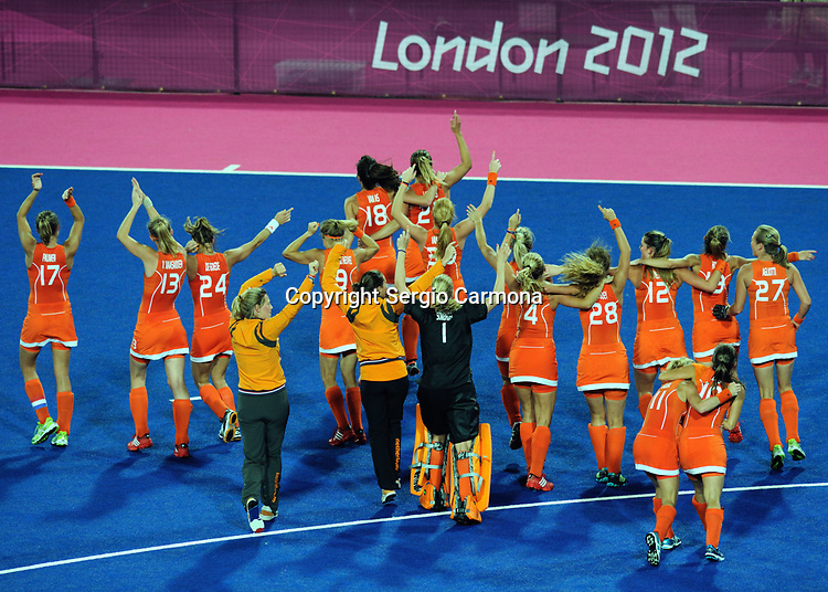 Olympic Games 2012; Women Hockey-Final. Netherlands vs. Argentina