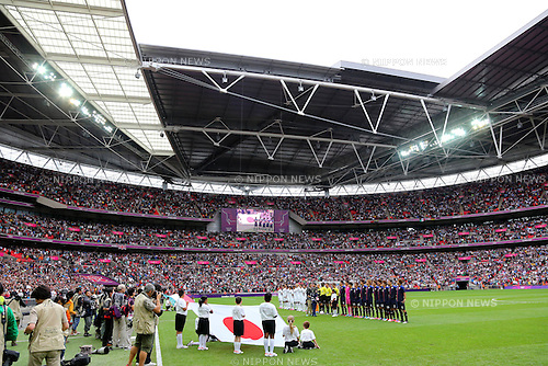 U-23Japan team group (JPN), .AUGUST 7, 2012 - Football / Soccer : .Men's Semi-final .match between Mexico 3-1 Japan .at Wembley Stadium .during the London 2012 Olympic Games in London, UK. .(Photo by Daiju Kitamura/AFLO SPORT) [1045]