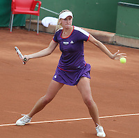 12.04.2012 Barcelona, Spain. WTA Barcelona Ladies Open. Picture show Olga Govortsova (BLR) at Centre municipal de tennis Vall d'Hebron