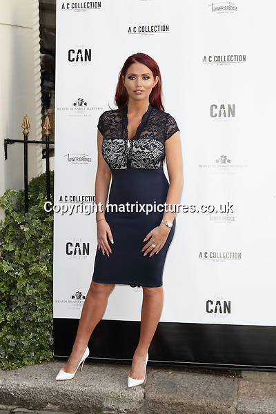 NON EXCLUSIVE PICTURE: MATRIXPICTURES.CO.UK<br /> PLEASE CREDIT ALL USES<br /> <br /> WORLD RIGHTS<br /> <br /> Former TOWIE reality TV star Amy Childs attending the Amy Childs Summer fashion launch at West London's Beach Blanket Babylon.<br /> <br /> JUNE 6th 2016<br /> <br /> REF: GBH 161726