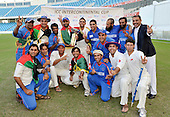 The Afghanistan team celebrate their victory over Scotland - in the Intercontinental Cup final match at Dubai ICC Sports City Cricket Ground - picture by Donald MacLeod 04.12.10 - mobile 07702 319 738 - clanmacleod@btinternet.com - www.donald-macleod.com