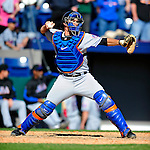 6 March 2010: New York Mets' catcher Josh Thole in action during a Spring Training game against the Washington Nationals at Space Coast Stadium in Viera, Florida. The Mets defeated the Nationals 14-6 in Grapefruit League action. Mandatory Credit: Ed Wolfstein Photo