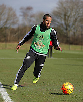 Pictured: Wayne Routledge Thursday 25 February<br /> Re: Swansea City FC training at Fairwood, near Swansea, Wales, UK, ahead of their game against Tottenham Hotspur.
