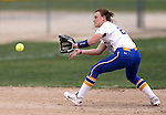 Wildcats shortstop Makaylee Jaussi makes a play against Snow Collegeat Edmonds Sports Complex in Carson City, Nev., on Friday, March 20, 2015. <br /> Photo by Cathleen Allison/Nevada Photo Source