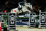 Katharina Offel of Ukraine riding Charlie competes at the Hong Kong Jockey Club trophy during the Longines Hong Kong Masters 2015 at the AsiaWorld Expo on 13 February 2015 in Hong Kong, China. Photo by Juan Flor / Power Sport Images