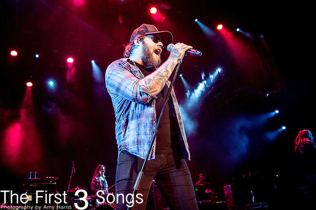 Danny Worsnop of We Are Harlot performs during the 2016 ShipRocked Cruise. ShipRocked set sail January 18-22, 2016, from Miami to Costa Maya, Mexico on the Norwegian Pearl.