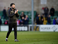Lincoln City manager Danny Cowley applauds the fans at the final whistle<br /> <br /> Photographer Chris Vaughan/CameraSport<br /> <br /> The EFL Sky Bet League Two - Lincoln City v Stevenage - Saturday 16th February 2019 - Sincil Bank - Lincoln<br /> <br /> World Copyright © 2019 CameraSport. All rights reserved. 43 Linden Ave. Countesthorpe. Leicester. England. LE8 5PG - Tel: +44 (0) 116 277 4147 - admin@camerasport.com - www.camerasport.com