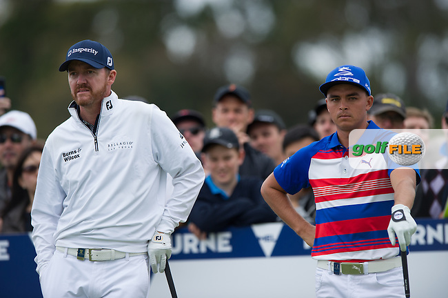 Jimmy Walker (USA) Rickie Fowler (USA) during the final round at the ISPS Handa World Cup of Golf, from Kingston heath Golf Club, Melbourne Australia. 27/11/2016<br /> Picture: Golffile | Anthony Powter<br /> <br /> <br /> All photo usage must carry mandatory copyright credit (&copy; Golffile | Anthony Powter)