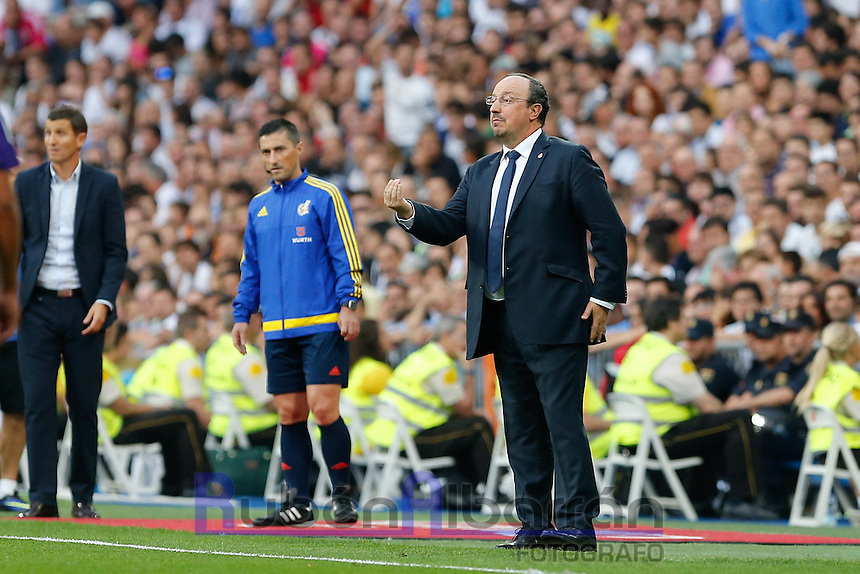 Real Madrid's Spanish coach Rafa Benitez