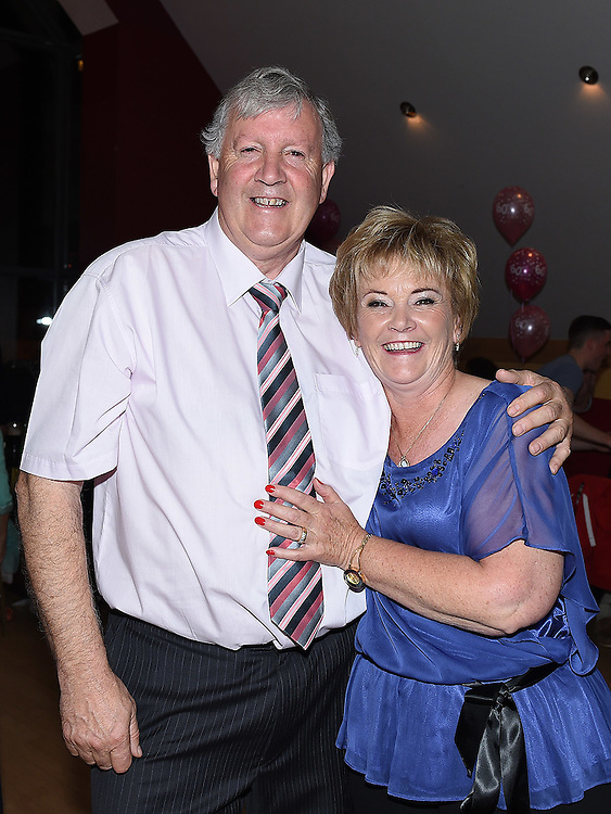 Angela Dunlevy celebrating her 60th birthday in the Thatch with husband Dessie. Photo:Colin Bell/pressphotos.ie