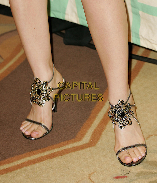 "MENA SUVARI.Attend ""A Family Affair: Women in Film celebrates The Paltrow Family"" 2004 Crystal & Lucy Awards held at The Westin Century Plaza Hotel in Century City, California.June 18, 2004.feet, sandals, strappy, jewel.www.capitalpictures.com.sales@capitalpictures.com.©Debbie VanStory/Capital Pictures.."