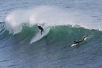Surfing at Steamer lane in Santa Cruz