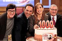 La trasmissione Rai &quot; Verdetto Finale festeggia le sue 1000 puntate<br /> nella foto  il cast Max Schioppa, Lorenzo Radogna,  Veronica Maya, Giuseppe Febbraro