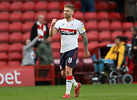 Adam Clayton of Middlesbrough celebrates the final whistle during Charlton Athletic vs Middlesbrough, Sky Bet EFL Championship Football at The Valley on 7th March 2020